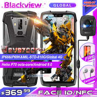 "Téléphone portable robuste 2019 Blackview BV9700 Pro IP68/IP69K Helio P70 Octa core 6GB + 128GB 5.84 ""IPS 16MP + 8MP 4G Smartphone avec identification faciale"