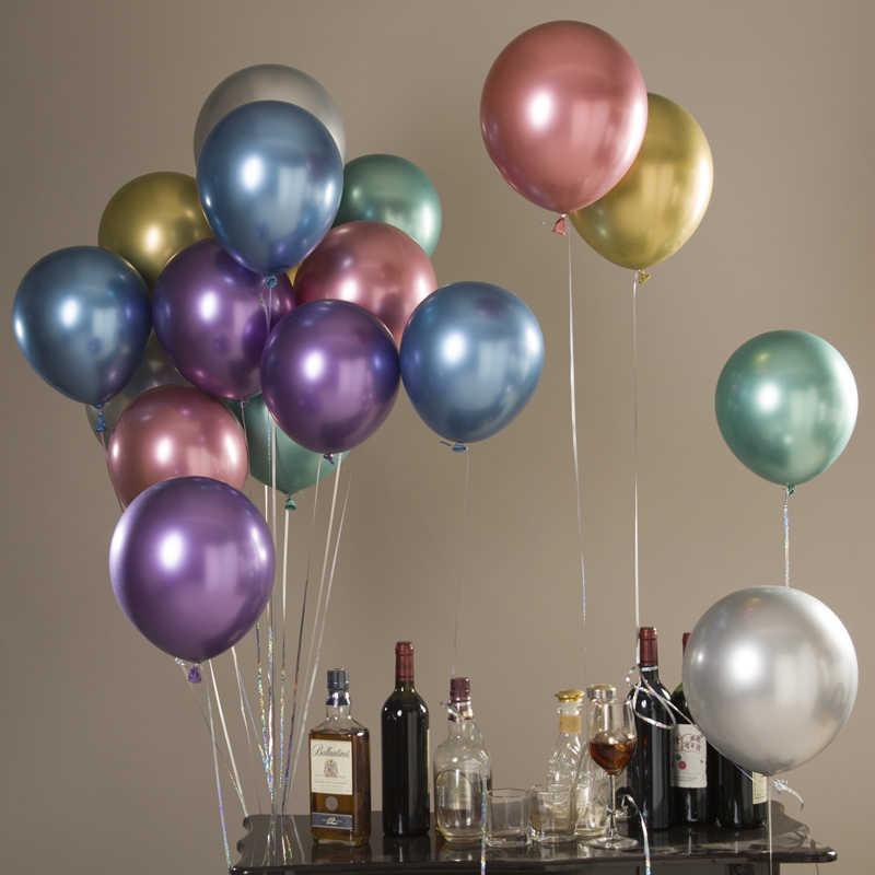 DCM 12 אינץ כסף זהב מתכתי לטקס בלוני פרלי מתכת בלון זהב צבעים Globos חתונה יום הולדת ספקי צד בלון @ 4
