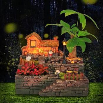 Creative Pastorale Resin Succulent Plant Flower Pot Planter Bonsai Box Plant Pot with Light Garden Decor - Provencal Flower Pot