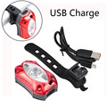 USB Перезаряжаемые задний велосипедный фонарь Водонепроницаемый яркий светодиодный Безопасность велосипед свет велосипед аксессуары Luz ...