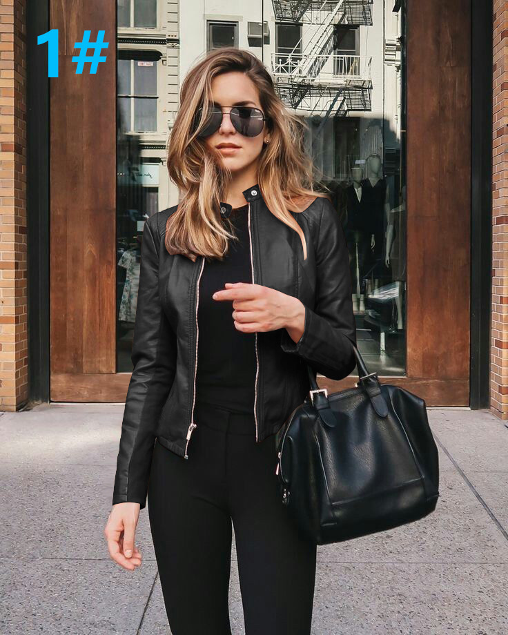 H57086fbe57724e3eb3d8bfda6d50c03at 2021 Women Winter Coat Jacket Thicken Fashion Long sleeve Outwear PU Leather Jacket warm Coats For Women Autumn Women's Clothing