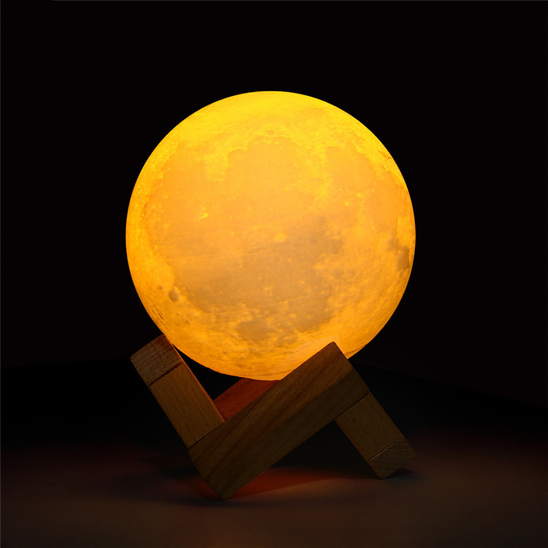 3D Moon DIY Night Light LED 16 Colors Remote Lampara Touch Rechargeable Moon Lamp Luminaria For Home Romantic Decor