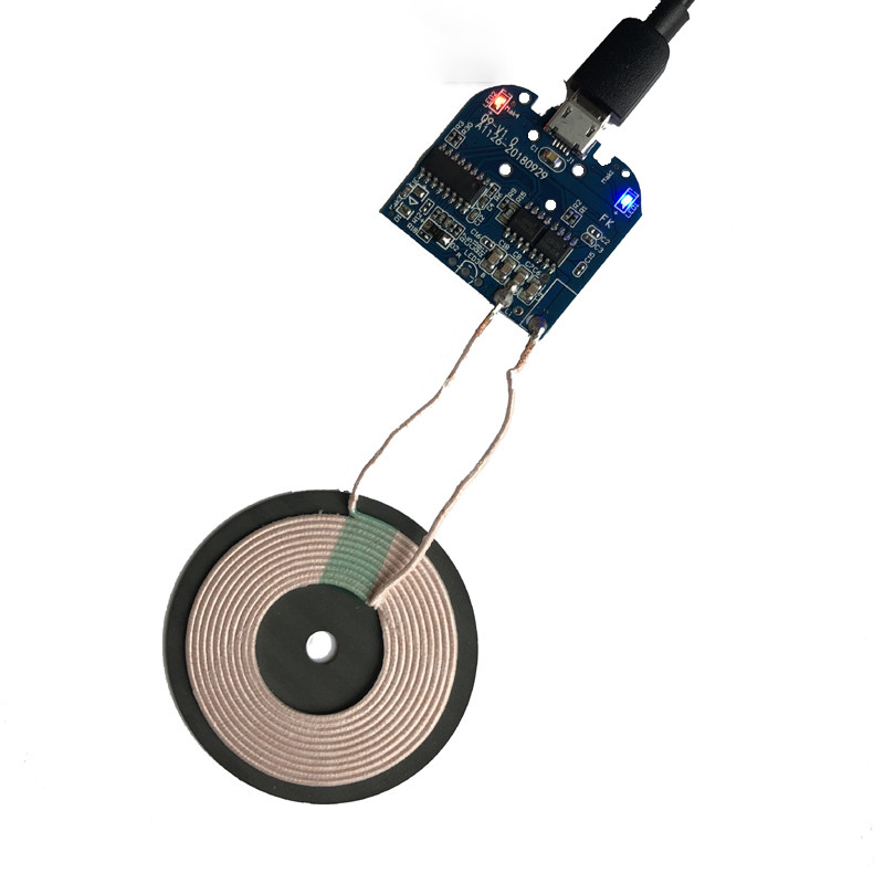 High Quality Qi Wireless Charging Standard Qi Fast Wireless Charger PCBA Circuit Board Transmitter Module + Coil Charging