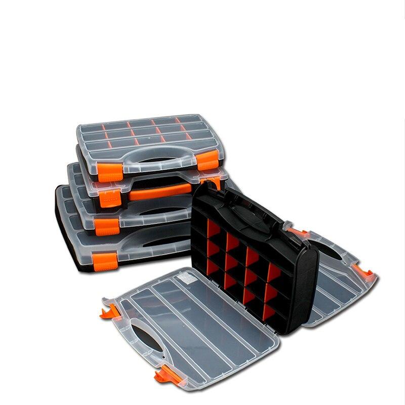Boîte de rangement pratique d'outil de vis en plastique d'abs avec la boîte à outils de réparation automatique d'accessoires de matériel de tournevis de verrouillage|Boîtes À outils|   -