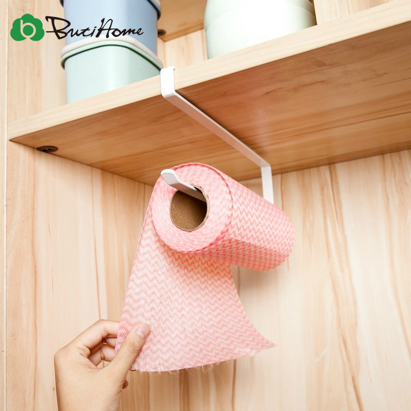 Butihome Kitchen Toilet Paper Holder Tissue Holder Hanging Bathroom Toilet Paper Holder Roll Paper Holder Towel Rack Stand Iron