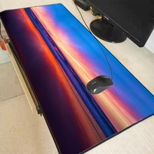 MRGBEST Beach Colorful Sunset Large Gaming Mouse Pad Gamer Computer Big  Mat Locking Edge Speed pad Keyboard Desk