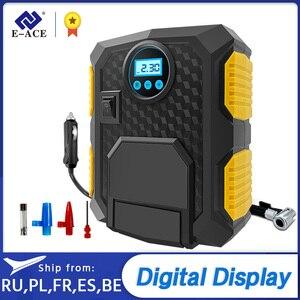 Надувной насос для автомобильных шин, воздушный компрессор для автомобиля, мотоцикла, 12 В, цифровой насос для шин 150 PSI, E-ACE