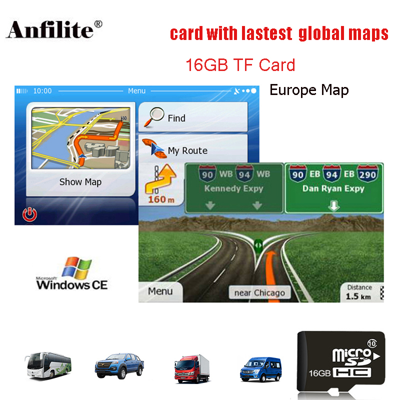 Sd-Card Gps-Accessories Navigation-Map Gps Maps Au/israel 16G For Wince