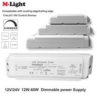 AC 220V zu DC 12V/24V Dimmbare Led-treiber DC12V/24V 20W 40W 60W Triac & 0-10V Dimmen 2in1 Power Versorgung Beleuchtung Transformator
