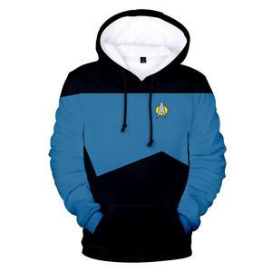 Star Trek Fashion Sweat à Capuche Imprimé Pull Zipper Veste Manteau Hommes//Femmes Sweat