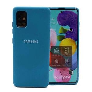 Image 4 - Original Liquid Silicone Case For Samsung Galaxy A02S A20E A01 A11 A21S A31 A51 A41 A71 A12 A32 A52 A42 A72 M51 M31 Soft Cover