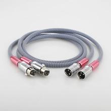 Audiocrast XLR ses gümüş kaplama hifi XLR ses kablosu 1M xlr ses video kablosu 1.5M