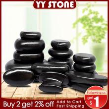 Pedra quente massagem conjunto aliviar o estresse dor nas costas cuidados de saúde acupressure lava basalto pedras para saúde spa quente rocha
