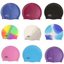 2020 boné de natação silicone feminino masculino à prova dplus água mais tamanho colorido adulto cabelo longo esportes alta elastic adultos nadar piscina chapéu