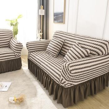 Stripe European Style Sofa Cover Elastic Sofa Slipcovers for Living Room Corner Towel Couch Cover Furniture copridivano