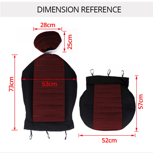 Image 3 - AUTOYOUTH Brand 2PCS Car Seat Covers 5MM Foam Airbag Compatible Universal Fit Most Vans Minibus Separated Car Seat
