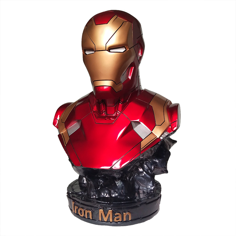 Marvel Avengers bust of Ironman Mark 46 Resin Ironman Statue PVC Action Figures Toys image