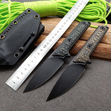 Free shipping Handmade A2 steel Hunting Knife G10 handle Camping Survival Knife Fixed Blade Tactical Knife 2017 new small fixed blade knife tactical hunting knife survival knife high hardness 9cr18mov steel copper handle