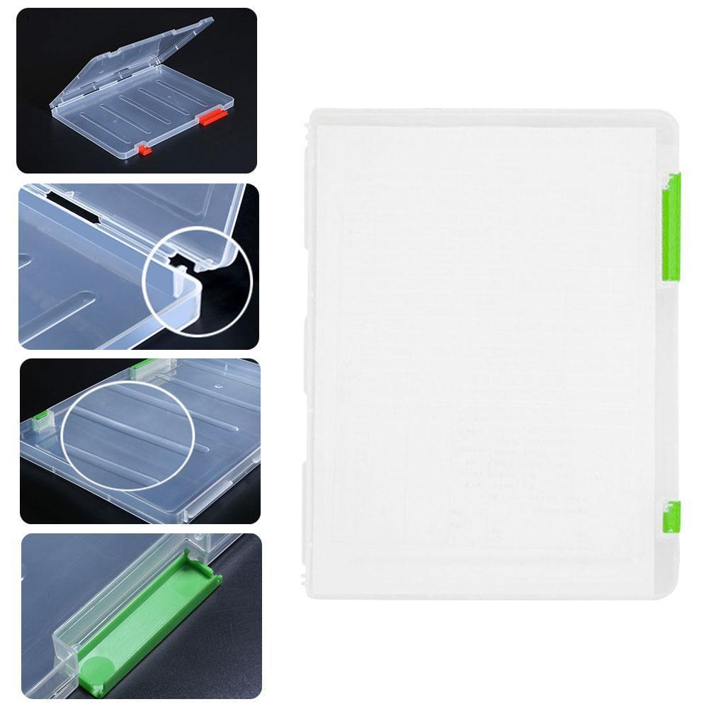 1pc File Box Plastic Document Paper Filling File Case Ortable Holder Size A4 Supplies With Storage School Stationery Ducome V0T9