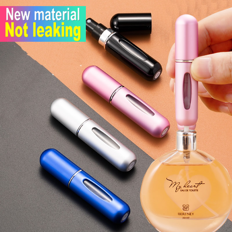 5ml New Material Portable Mini Refillable Perfume Bottle With Spray Scent Pump Empty Cosmetic Containers Spray Atomizer Bottle
