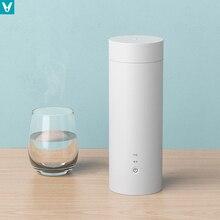Youpin viomi viagem copo elétrico 400ml garrafa de água de aço inoxidável garrafa aquecimento elétrico portátil controle temperatura inteligente