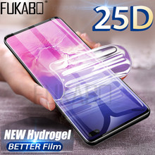 25D Screen Protector For Samsung Galaxy Note 9 10 Pro S10 Plus Hydrogel For Samsung A9 A8 A7 A6 Plus 2018 A5 2017 5G not glass(China)