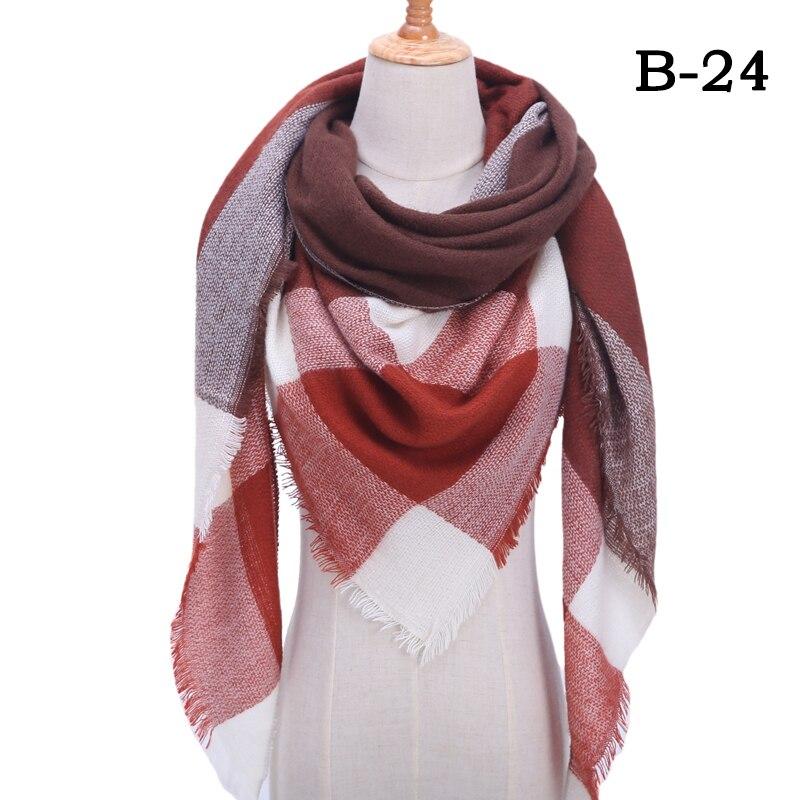 Женский зимний шарф в ретро стиле, кашемировые вязаные пашмины шали, женские мягкие треугольные шарфы, бандана, теплое одеяло, новинка - Цвет: bb24