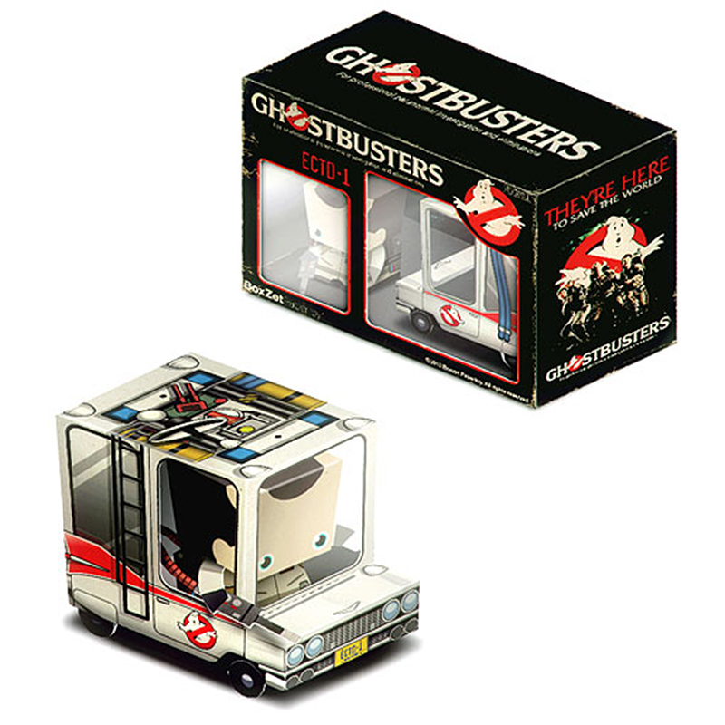 GhostBusters Van Car Box Cubee Ornaments Folding Cute Mini 3D Paper Model Papercraft DIY Kids Adult Handmade Craft Toys ER-059