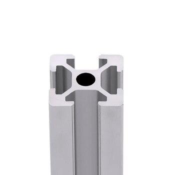 LY 2020 Aluminum Profile Extrusion 100mm to 1000mm Length Linear Rail for DIY 3D Printer Workbench CNC cnc 3d printer parts 4pcs lot european standard anodized linear rail aluminum profile extrusion 3030 for diy 3d printer