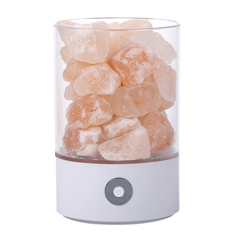 TOP USB Real Himalayas Salt Crystal Rock Lamp Good For Health Small Mineral Negative Ionic Stone Lava Salt Night Light For Bedro