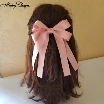 2020 Fashion Satin Fashionable Lady Hairpin Flow comb Soft Barrette Bows Chiffon Hair Clips For Women Girls Hair Accessories ubuhle fashion women full pearl hair clip girls hair barrette hairpin hair elegant design sweet hair jewelry accessories 2019