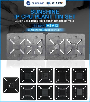 G-Lon 601H Double Side Use Slot Position Motherboard BGA Reballing Stencil Plant Tin Platform For IPhone CPU A13 A12 A11 A10 A9