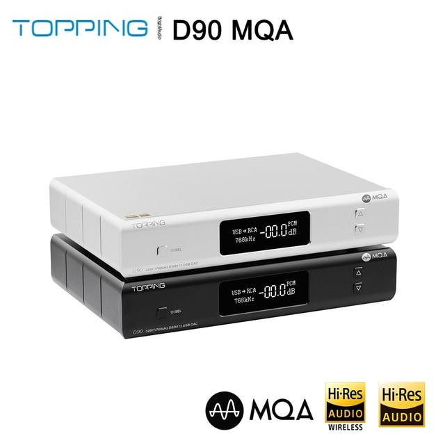 أعلى D90 MQA AK4499 AK4118 بلوتوث 5.0 كامل متوازن DAC فك ، XMOS XU216 ، DSD512 PCM 32bit/768kHz ، جهاز التحكم عن بعد ،