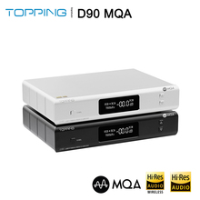 Topping D90 MQA AK4499 AK4118 Bluetooth 5.0 tam dengeli DAC dekoder, XMOS XU216,DSD512 PCM 32bit/768kHz, uzaktan kumanda,