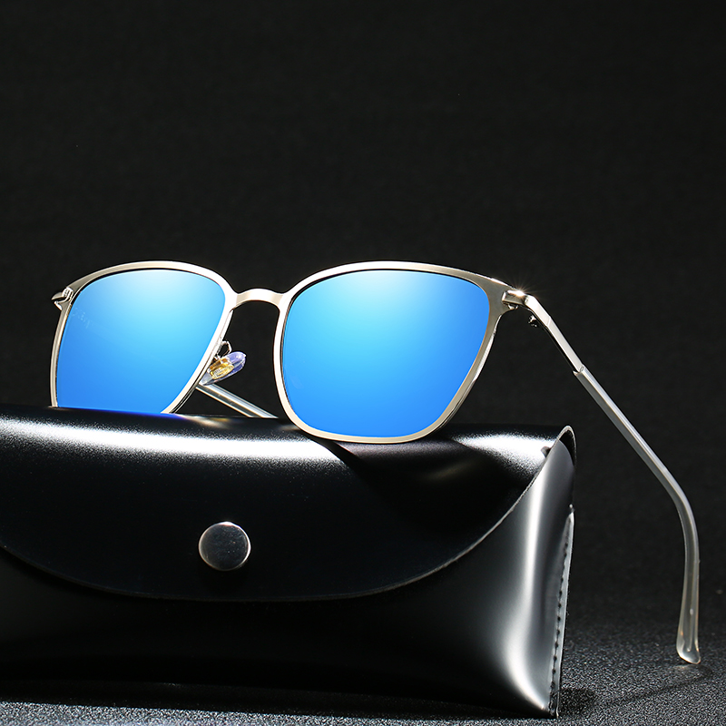 Polarized Men's Sunglasses Metal Square Classic Trend Sunglasses Driver Shading Glasses 9-P0804