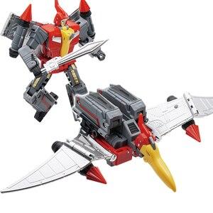 Image 5 - Planeten Dinosaurier Transformation Ursprüngliche Farbe Dinobots Krieger Animation Farbe Verformung Action FIgure Transformator G1 Spielzeug