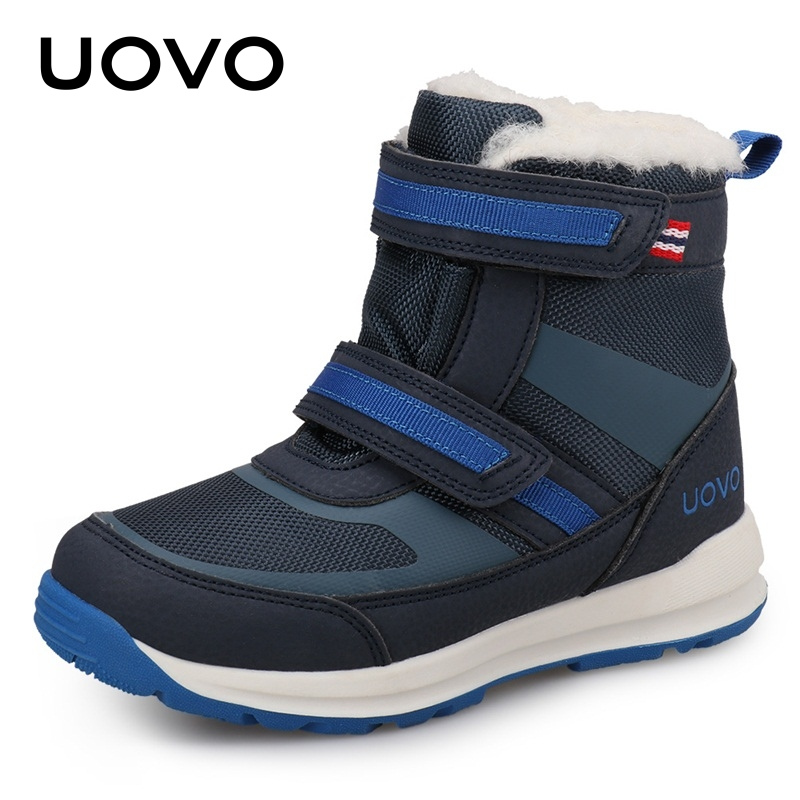2019 New Arrival Kids Warm Snow Boots UOVO Children Water Repellent Winter Boots Boys Boots Eur #30-37