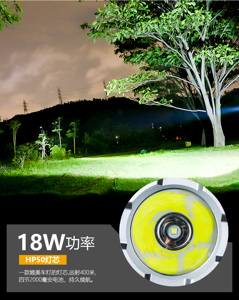 cor dazzeler nightcore lanterna tatica casa eg50sd