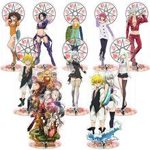 Figuras de acción de los Seven Deadly Sins, 1 Uds., modelo de pie, soporte de placa, decoración de escritorio, adornos, figuras de acción de juguete, regalo