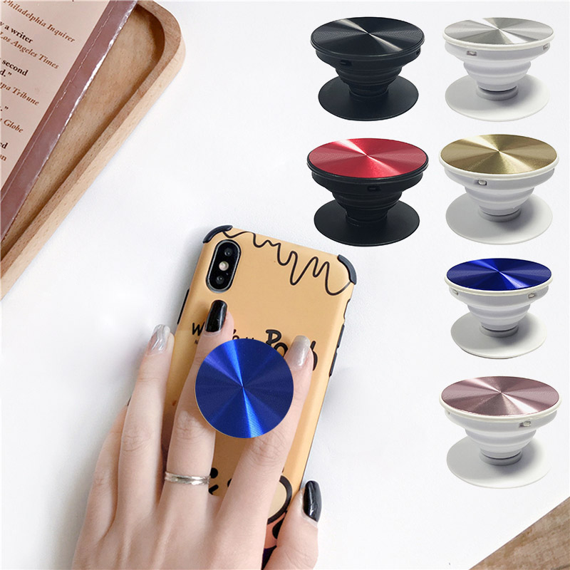 Cell Phone Holder Mount Pull Out Collapsible Grip Stand For Phones Tablets @M23