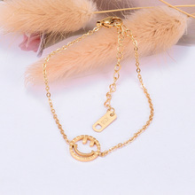 2020 New Trend Cute Love Anklet for Women Girls Stainless Steel Gold Color Face Anklet&Bracelet Charms Simple Jewelry Gifts