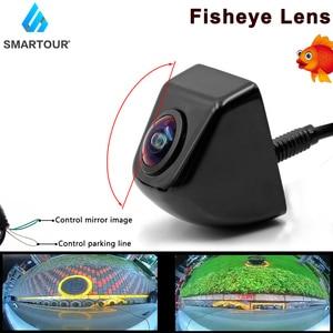 Car Camera 180 Degree Fish Eye Lens Starlight Night Vision HD Vehicle Front/Rear View Camera Metal Body 4 Pin Parking Assistance