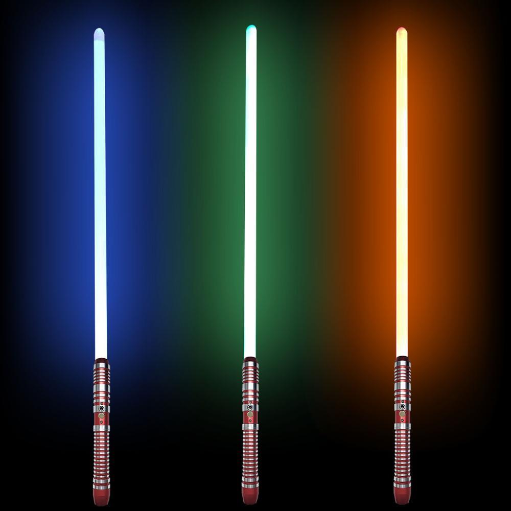 Nouveau Cosplay rvb sabre lumineux en métal duel épée couleur changeante sabre Laser enfants jouet clignotant Laser enfant cadeau guerres lumière jouet