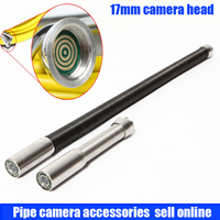 17mm Inspection Camera Replacement Camera Head for Sewer Drain Pipe Wall Inspection Camera with 9 led