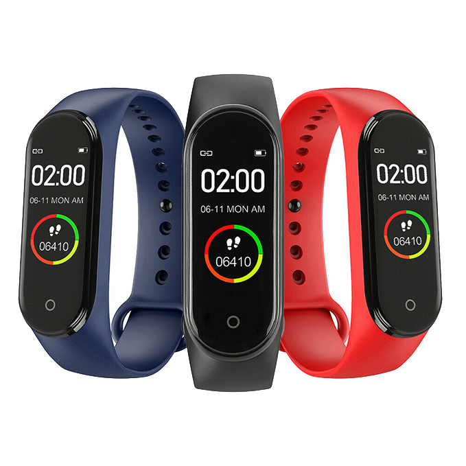 Intelligent High Quality M4 Watch Men And Women Blood Pressure Heart Rate Monitor Portable Sports Information Reminder Bracelet