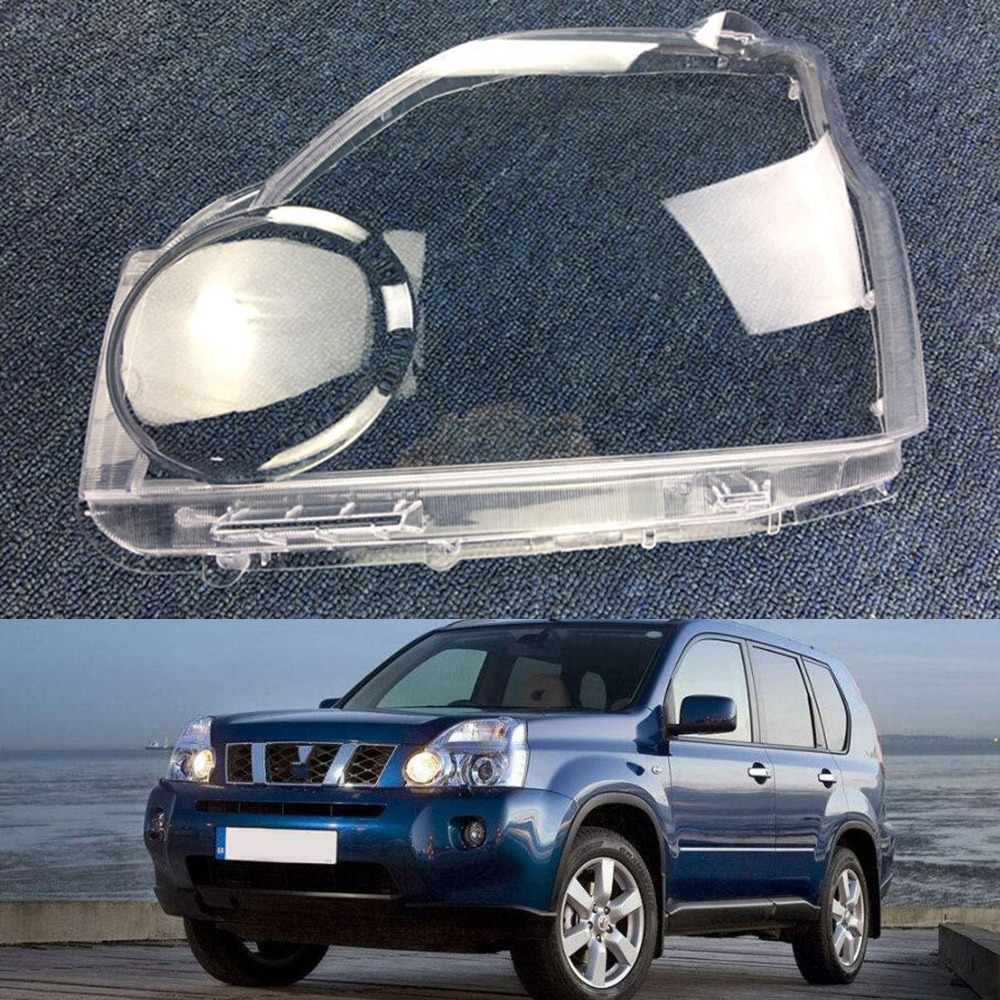 For Nissan X-Trail 2007 2008 2009 2010 2011 Headlight Lens Car Headlamp Cover Replacement Clear Glass Auto Shell Cover