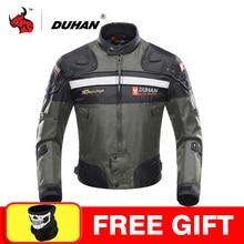 DUHAN 오토바이 자켓 모토 크로스 오프로드 레이싱 자켓 오토바이 보호 모토 자켓 오토바이 방풍 보호 장비