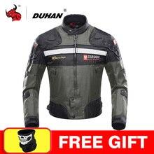 Duhan motocicleta jaquetas motocross fora de estrada jaqueta de corrida motocicleta proteção moto jaqueta moto à prova de vento engrenagem de proteção