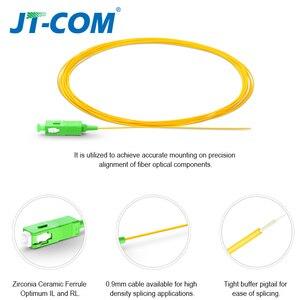 Image 2 - 20/50/100/200PCS  SC APC Fiber Optic Pigtail Simplex 0.9mm 9/125 Single Mode 1 core SC UPC Optical Fiber Pigtail 1.5M