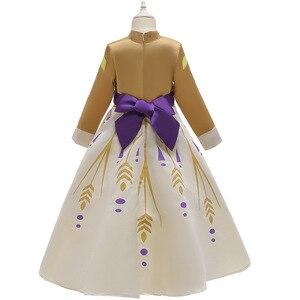 Image 4 - 2020 חג המולד קפוא 2 מלכת אנה שמלת קוספליי תלבושות עבור ילד בנות מסיבת נסיכת Vestidos ילד בגדי שמלת 3 12 שנה